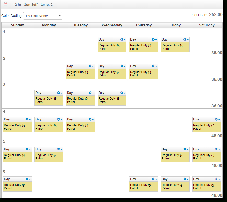 2021 12 Hour Rotating Shift Calendar / Free Work Schedule