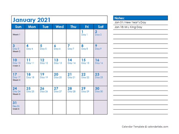 2021 Julian Date Calendar - Free Printable Templates