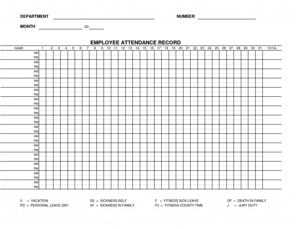 2021 Printable Attendance Tracker   Calendar Template