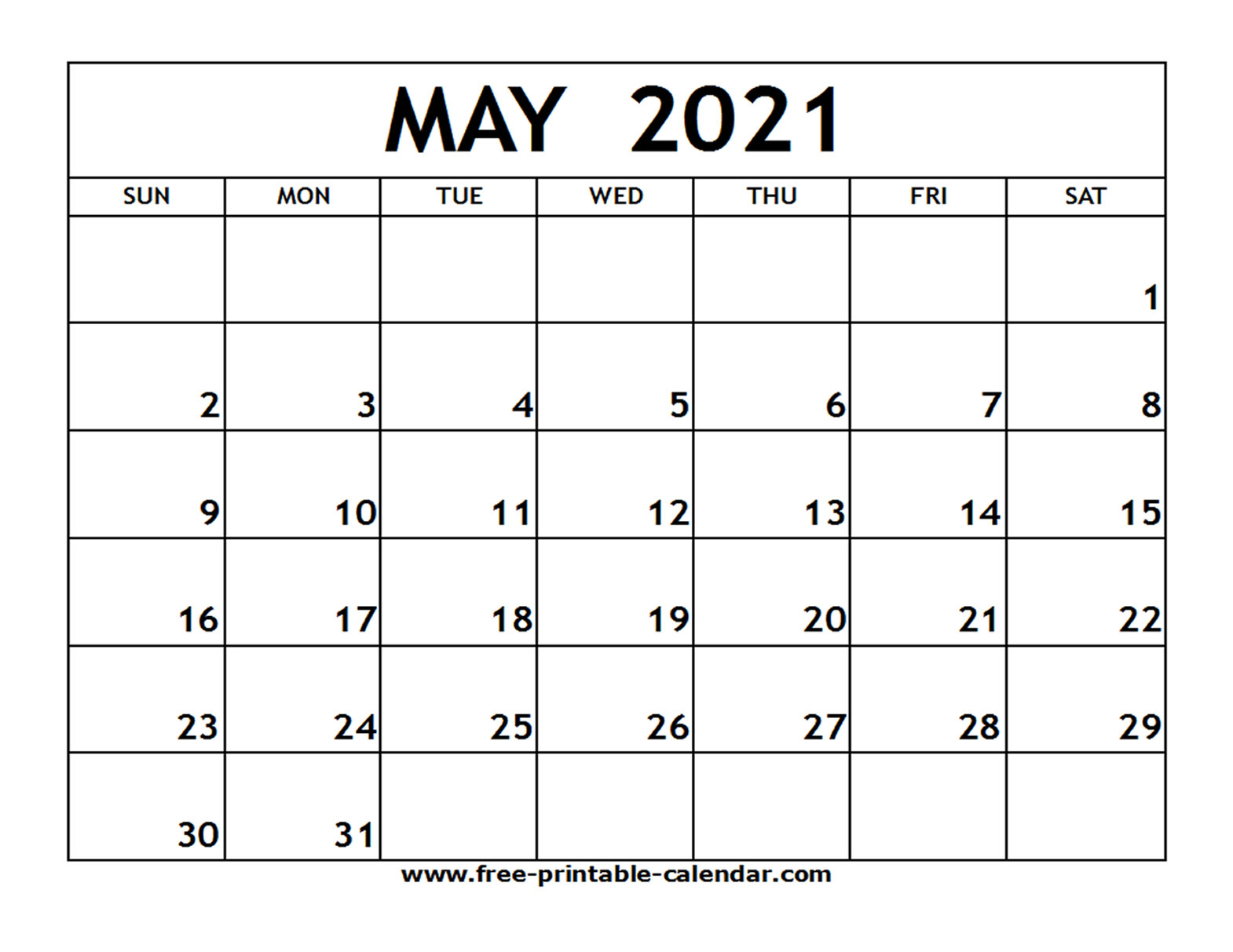 2021 Printable Calendar Free   Calendar Printables Free