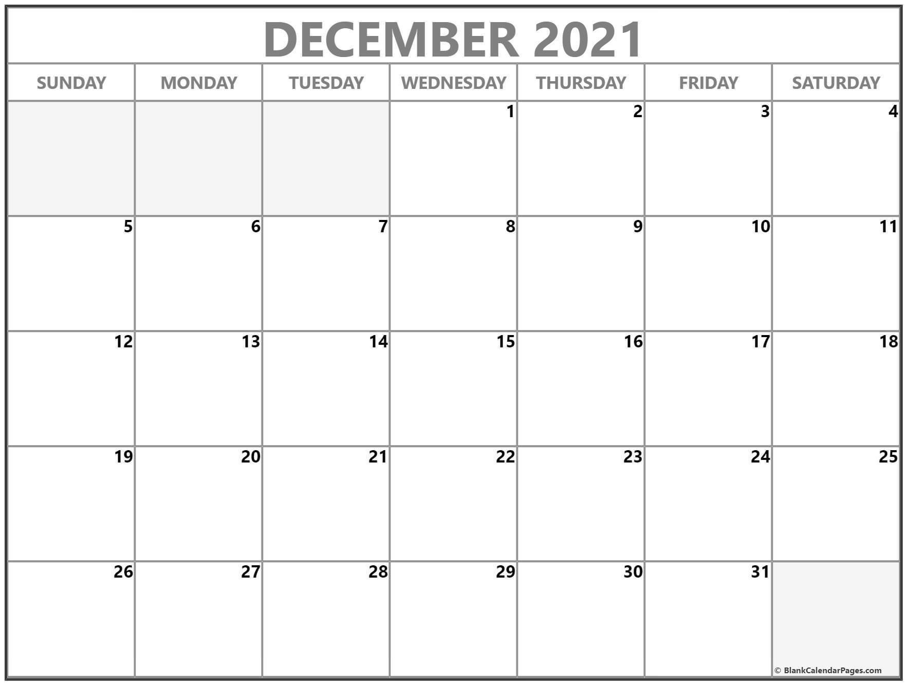 2021 Printable Calendar From October Thru December