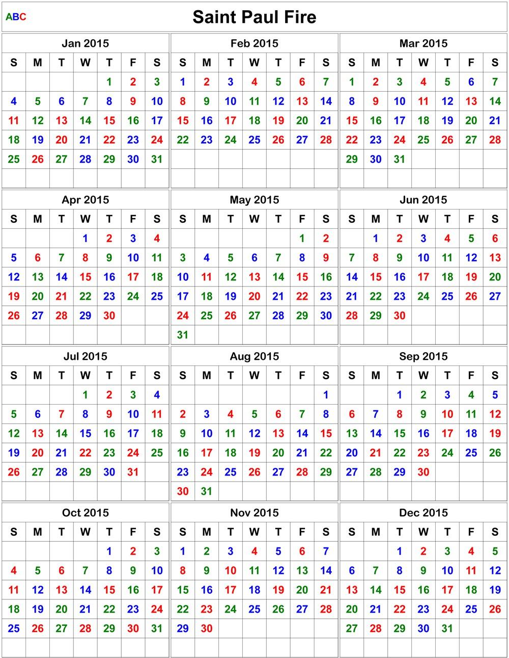 2021 Printable Firefighter Shift Calendar   Calendar