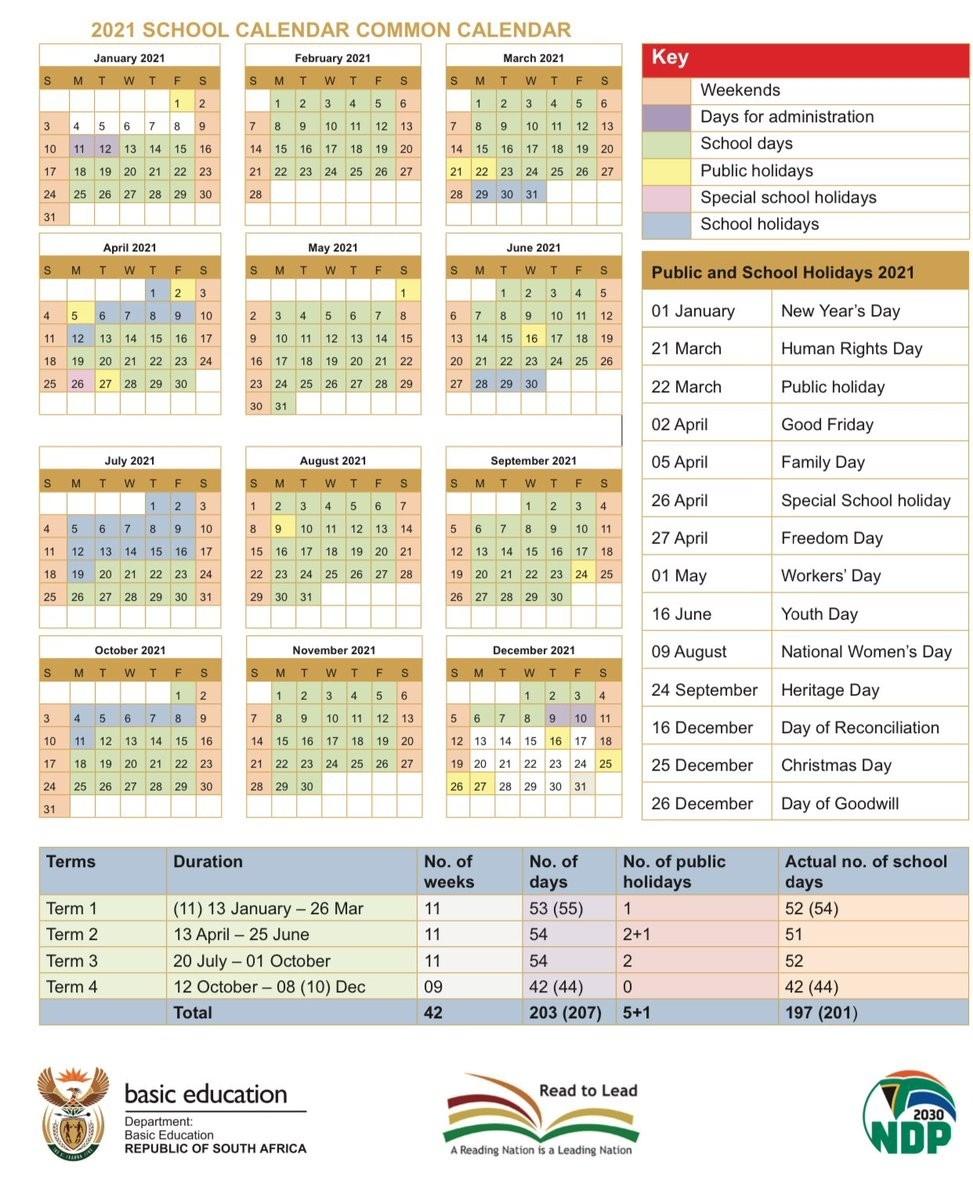 2021 South African Calendar   Calendar Template Printable