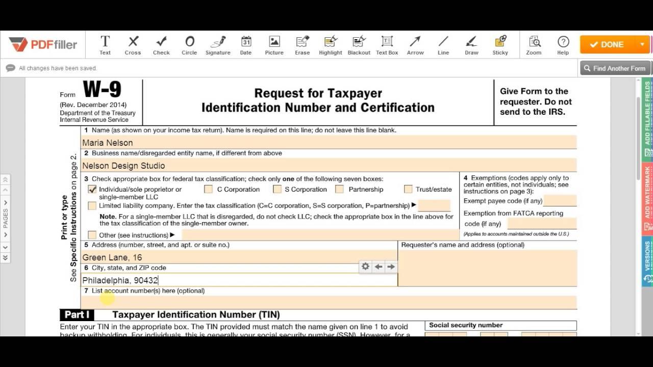 2021 W-9 Form Pdf   Example Calendar Printable