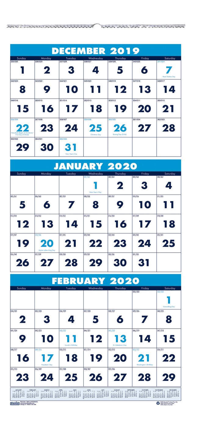3 Month Wall Calendar 2020   Free Printable Calendar