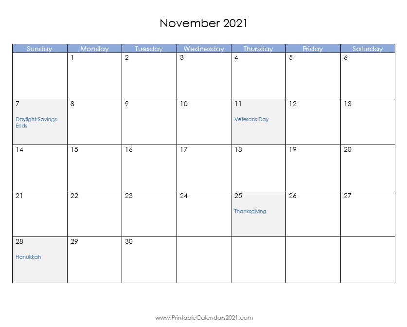 44+ November 2021 Calendar Printable, November 2021 Calendar Pdf