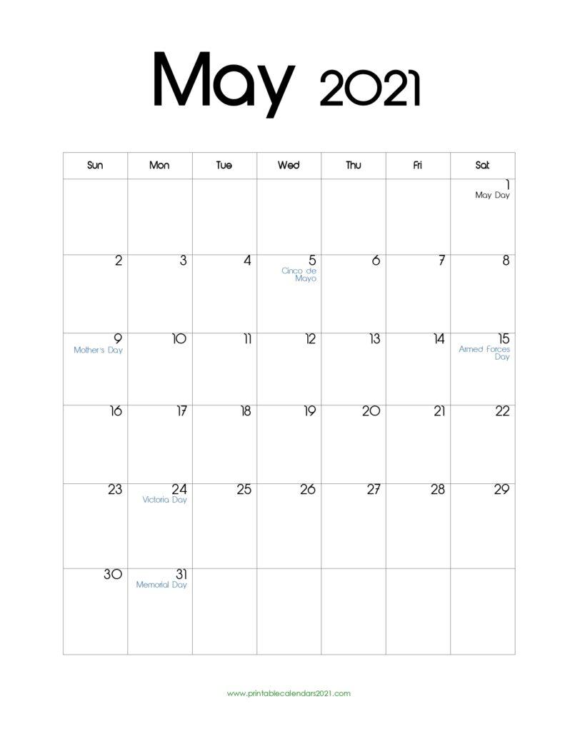 52+ May 2021 Calendar Printable, May 2021 Calendar Pdf