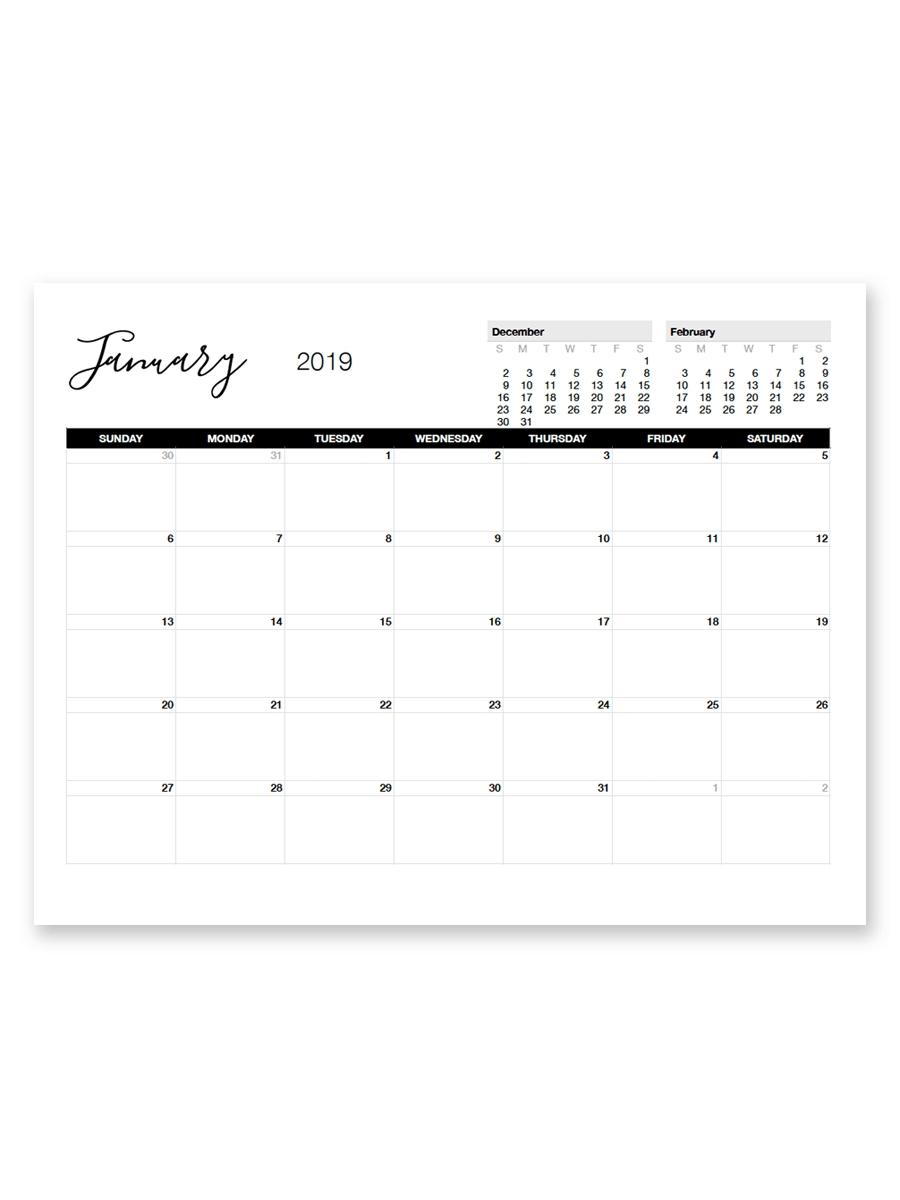 8.5 X 11 Blank Printable Calender   Example Calendar Printable