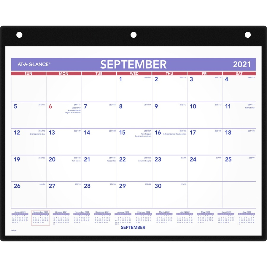 At-A-Glance Academic Monthly Desk/Wall Calendar With Poly