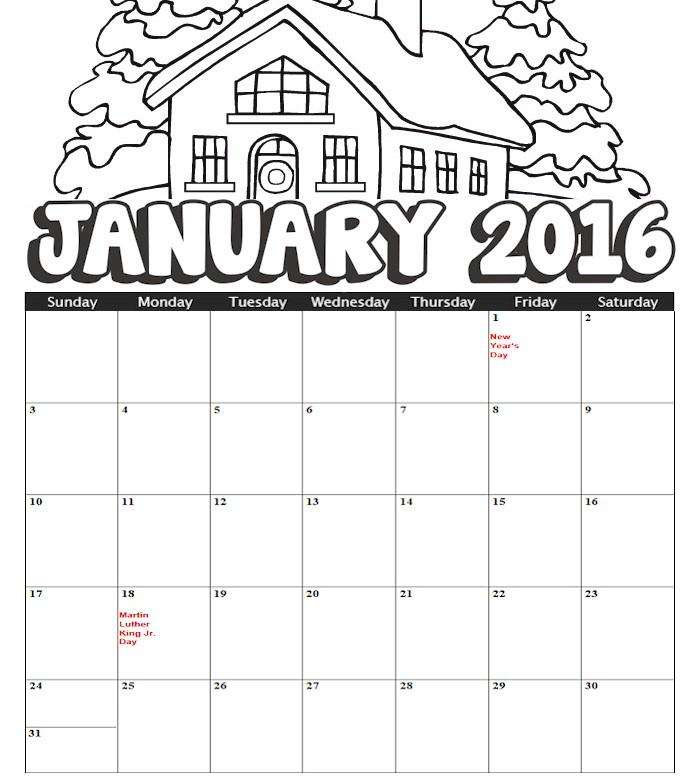 Blank Calendar For Kids - Calendar Template 2020