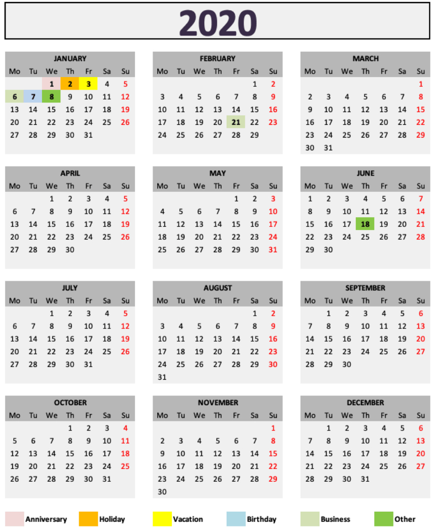 Catch Printable Calendar 2020 December 5.5 X 8.5