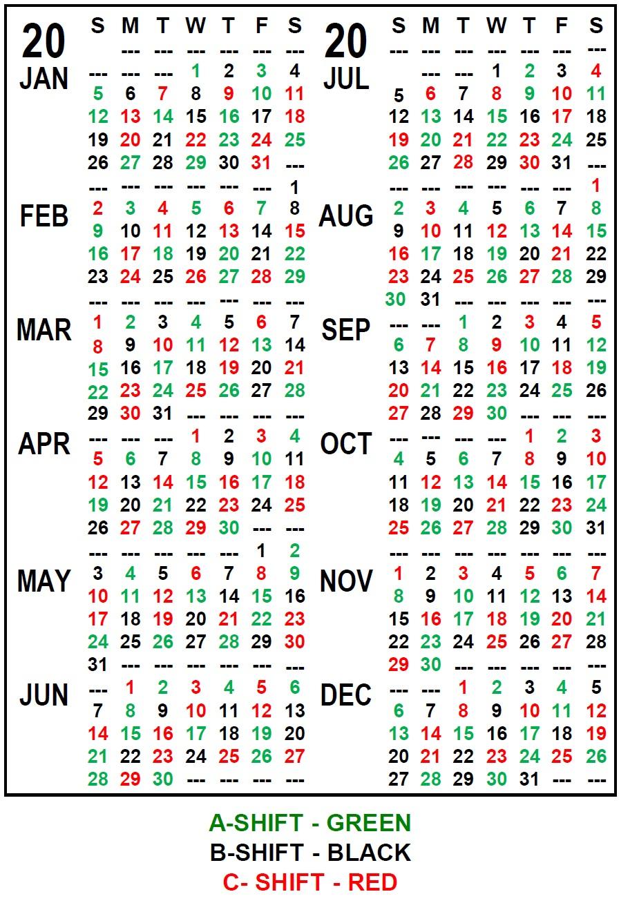 Collect Printable Firefighter Shift Calendar | Calendar