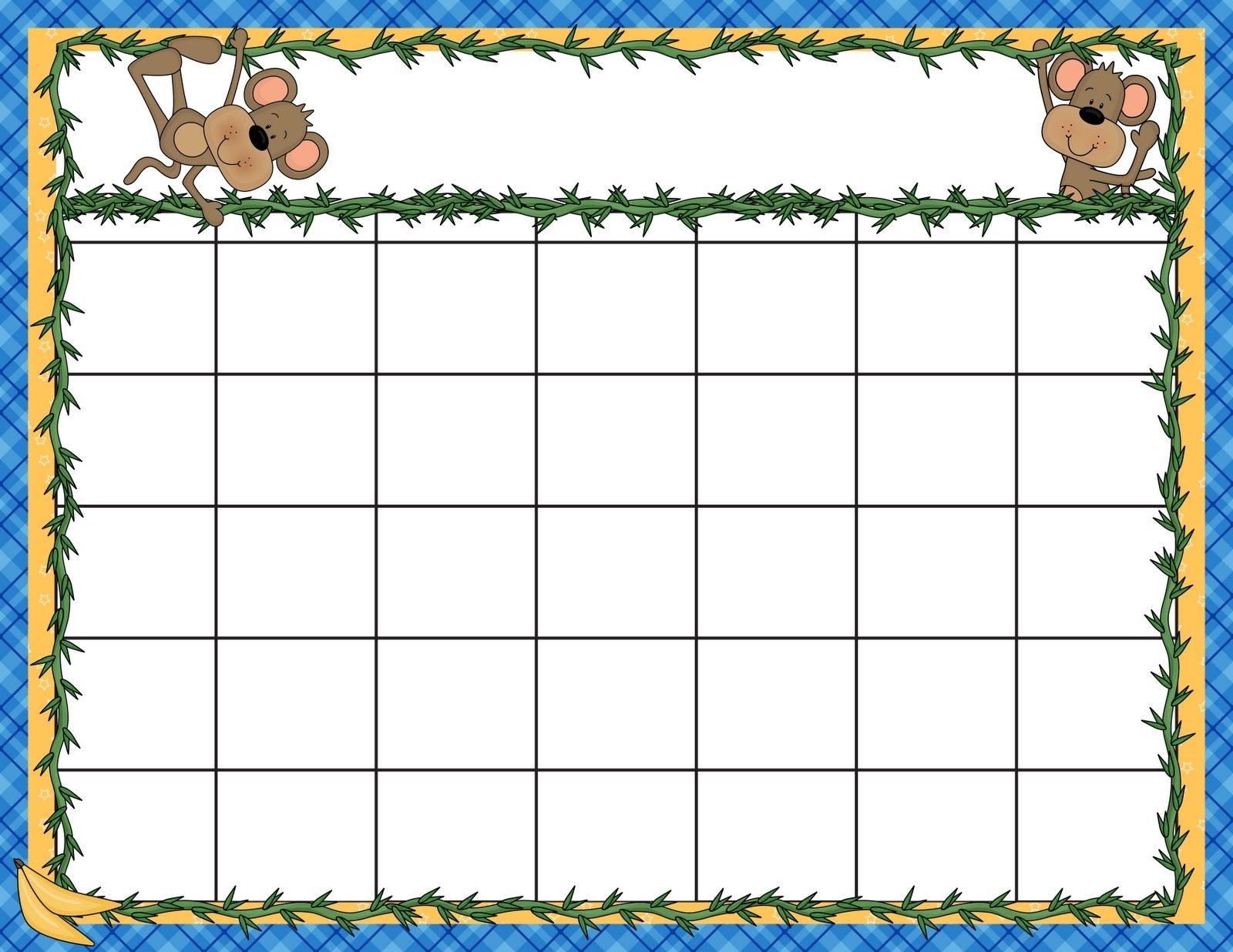 Create Your Free Editable Preschool Calendar Template