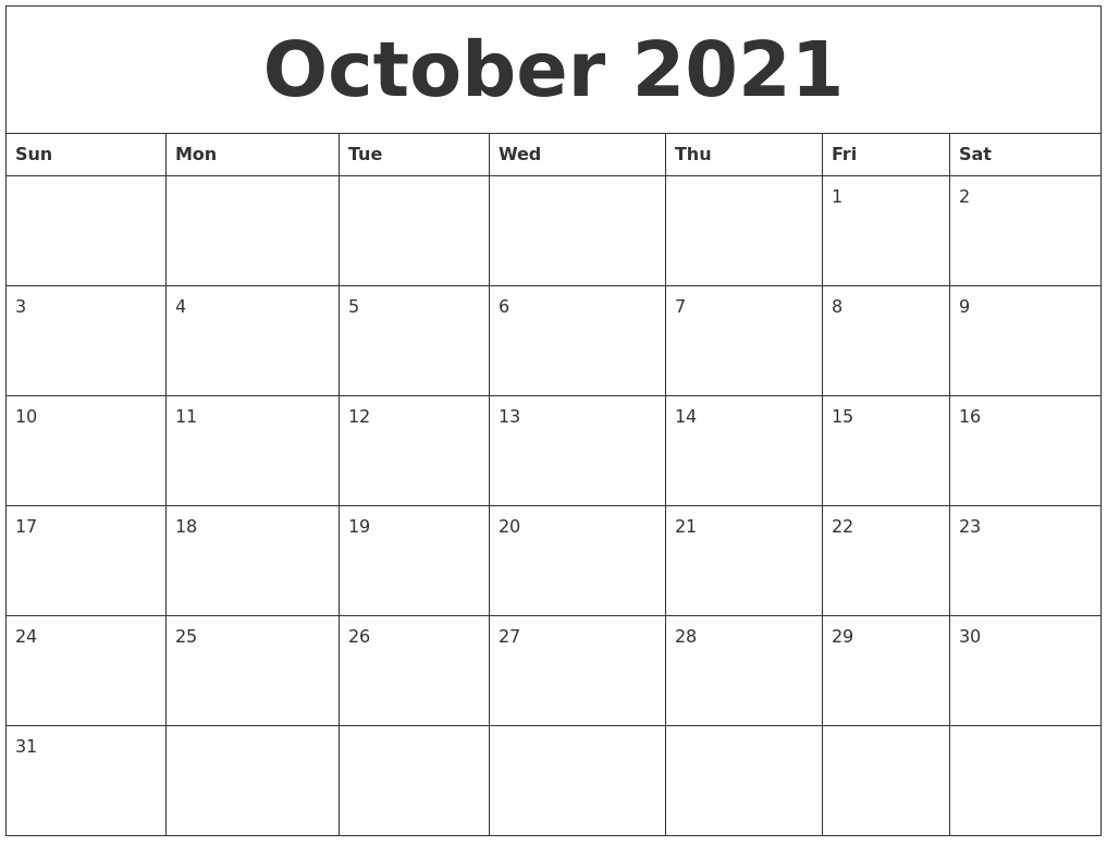 December 2021 Calendar Monthly