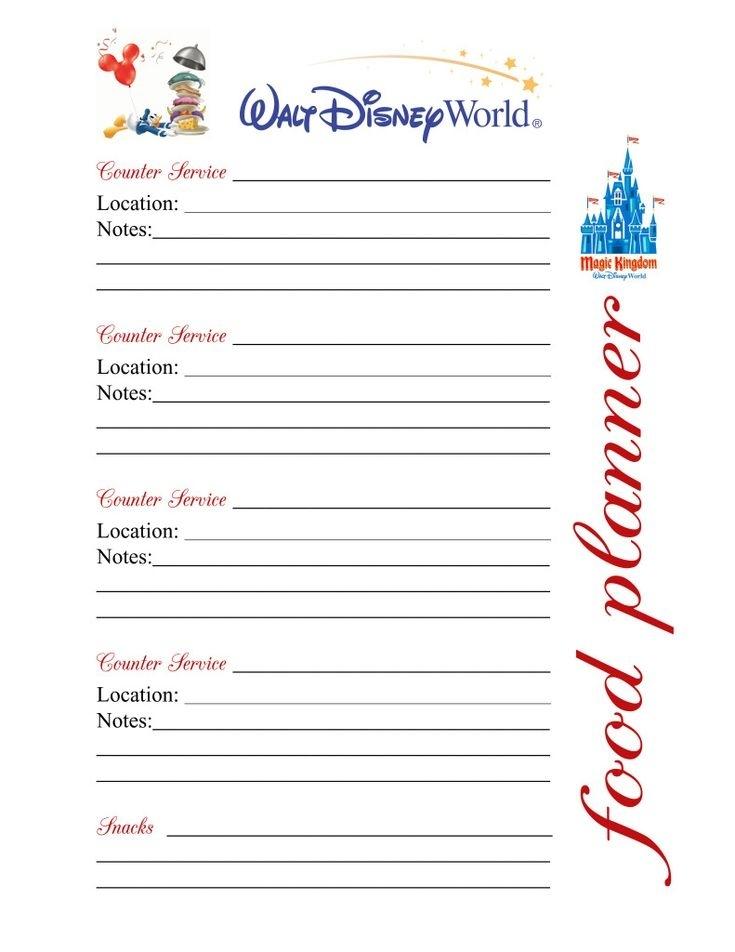 Disney Daily Planner Printables | Printable Calendar