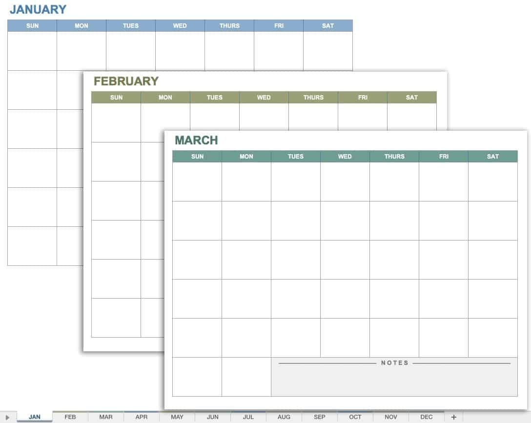 Downloadable 2020 Monthly Calendar Template Word