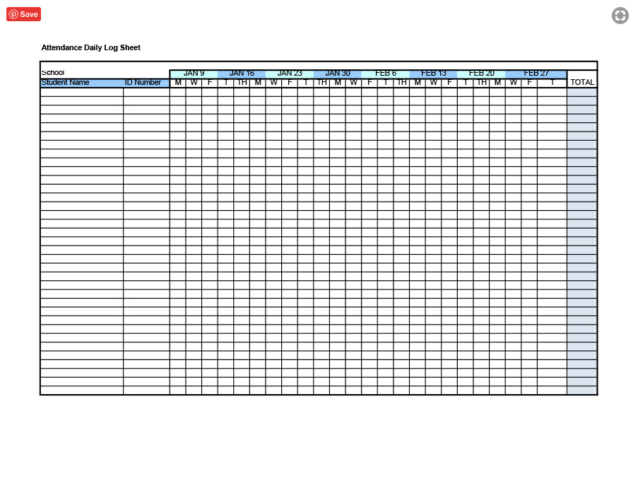 Employee Attendance Sheet 2020 Excel - Calendar Template