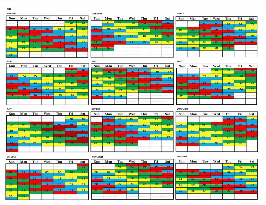Firefighter 24 48 Shift Calendar - Calendar Inspiration Design