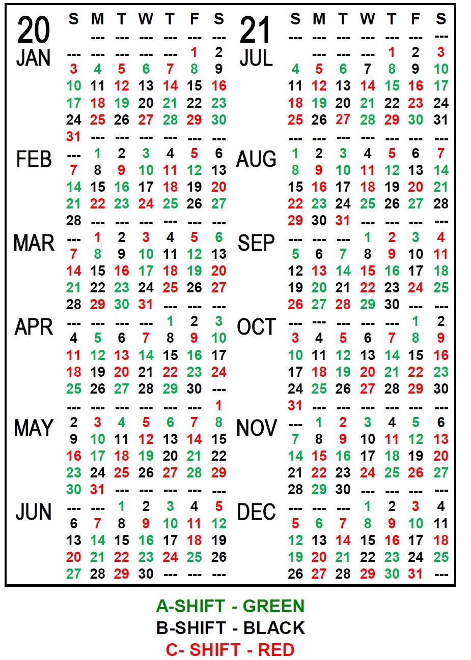Firefighter Shift Calendar 2020 - Wpa.wpart.co Regarding
