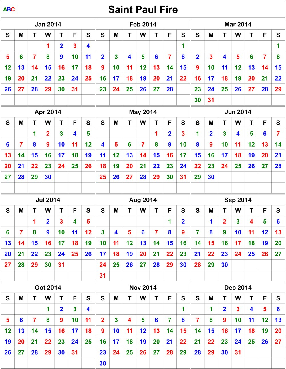 Firefighter Shift Calendar 2021 | Printable Calendars 2021