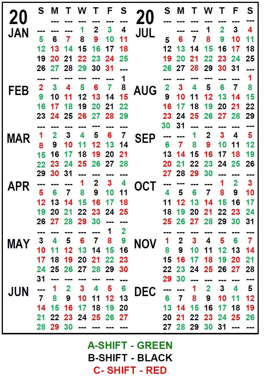 Firefighter Shift Schedule Tool :-Free Calendar Template