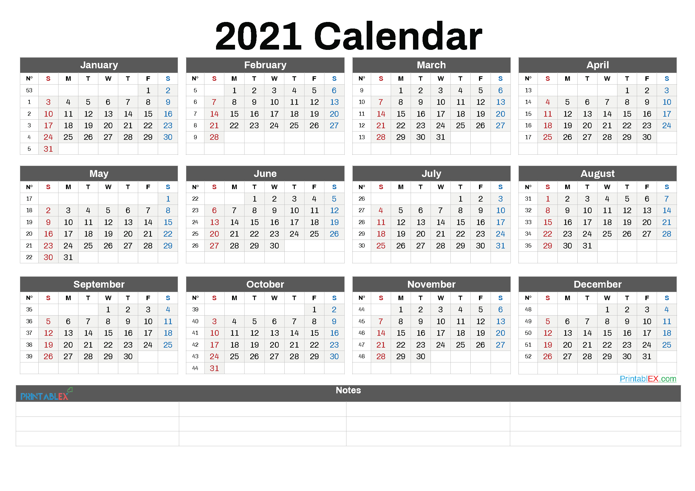 Free 12 Month Word Calendar Template 2021 / Are You