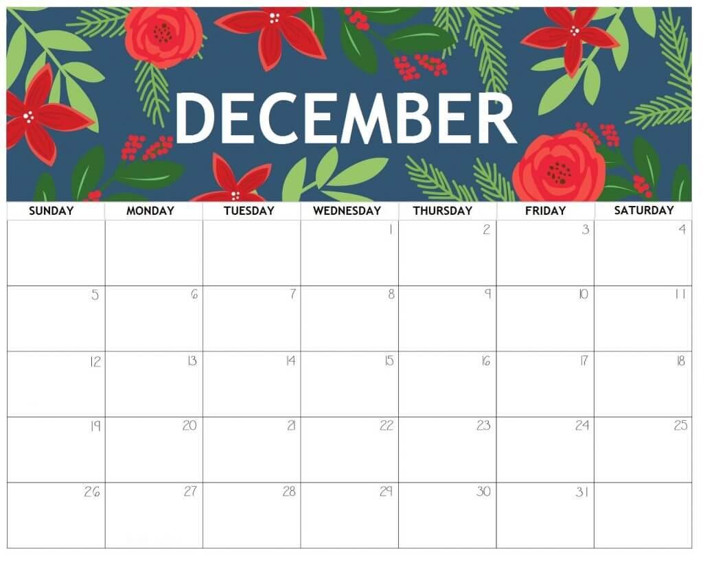 Free 2021 Cute Calendar