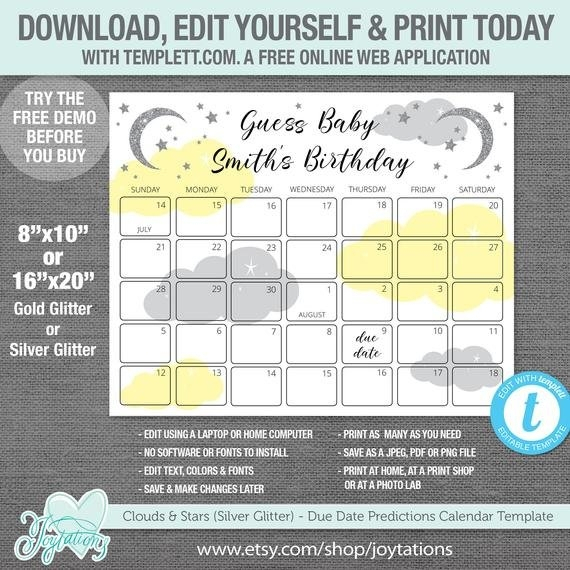 Free Baby Due Date Calender Downloads Photo | Calendar