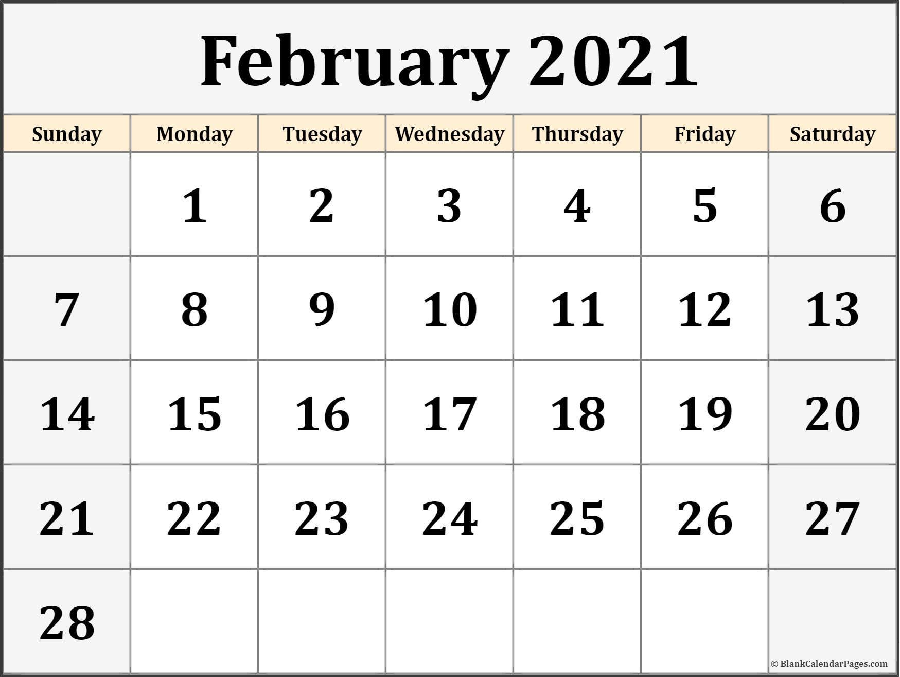 Free Calendars 2021 Printable   Calendar Printables Free Blank