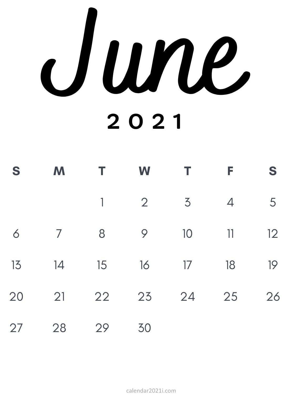 Free Minimalist 2021 Calendar Monthly Printable   Calendar