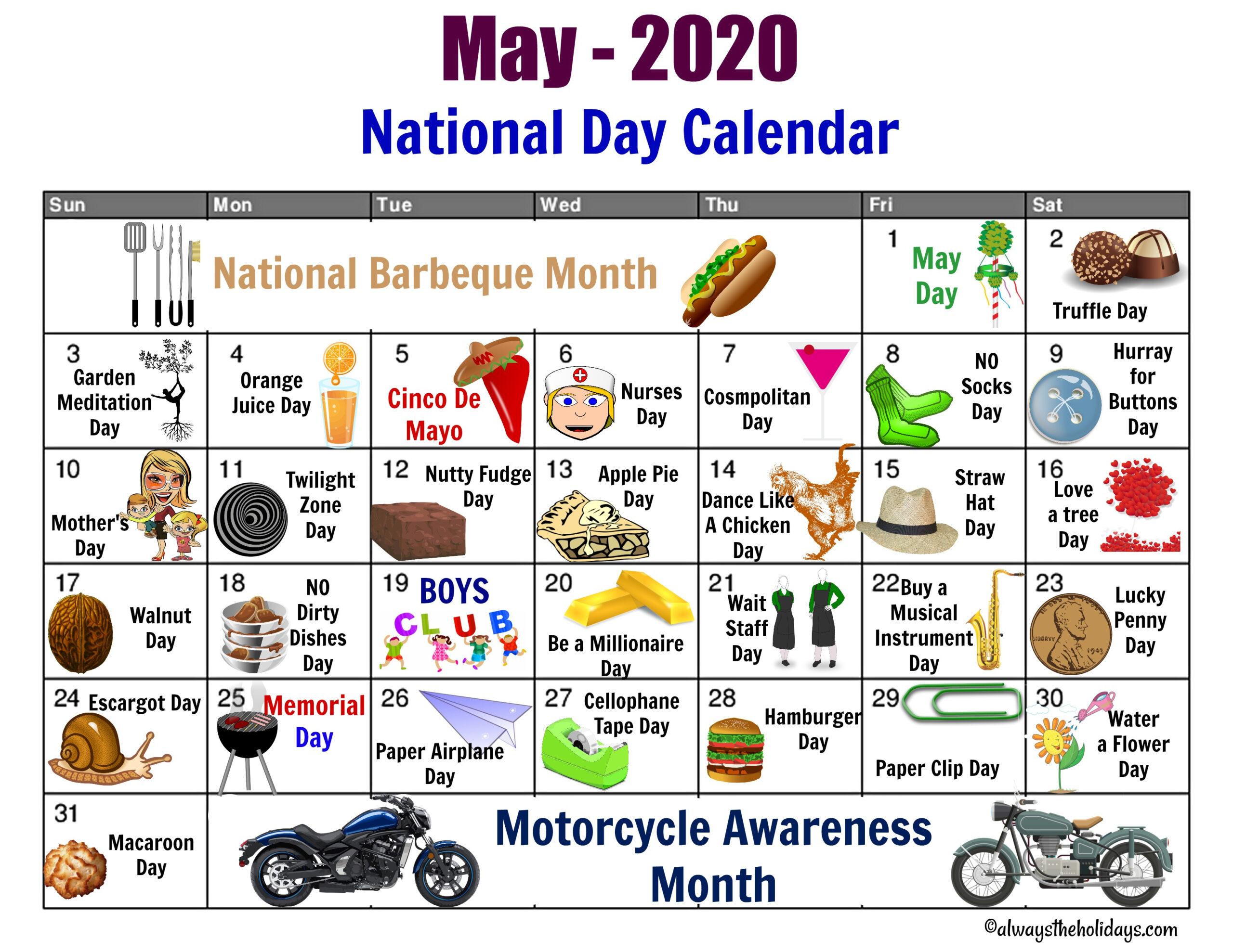 Free November Holiday National Food Holiday Printout 2021