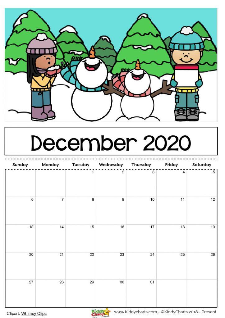 Free Printable 2020 Calendar For Kids, Including An
