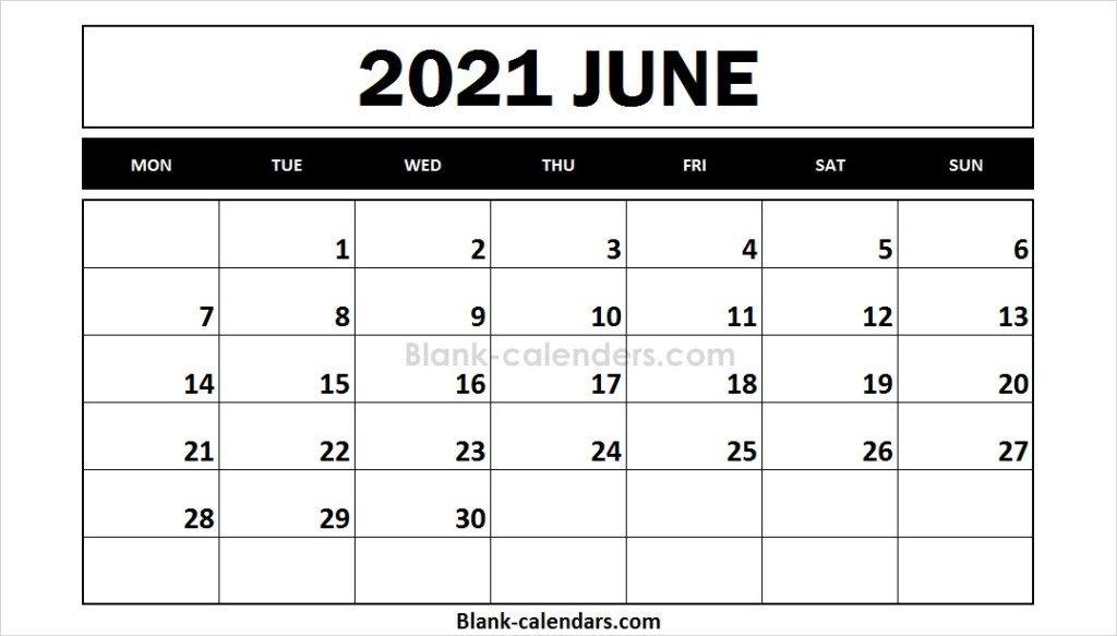 Free Printable 2021 Calendar June   2021 Calendar, Yearly