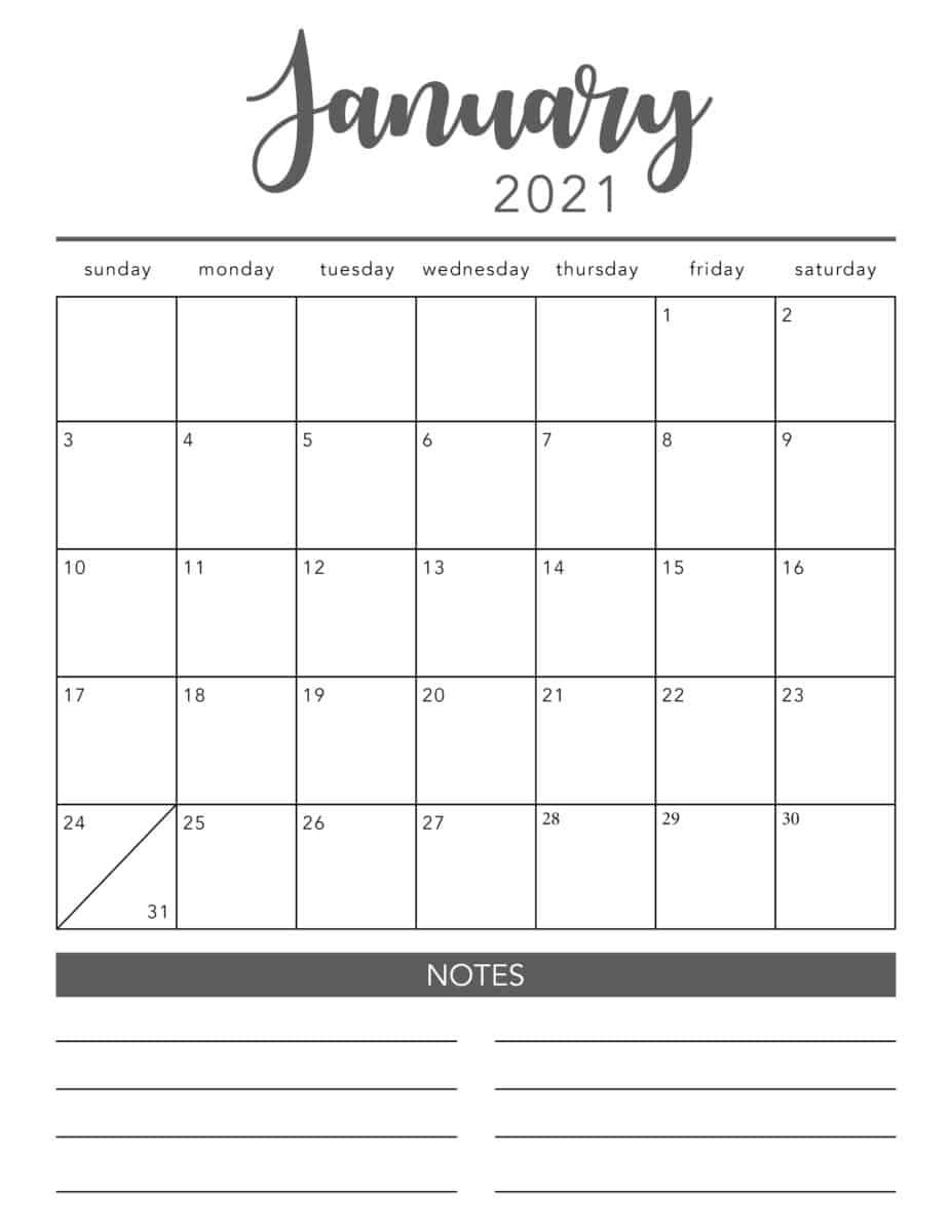 Free Printable 2021 Monthly Calendar With Holidays Imom   2021 Printable Calendars