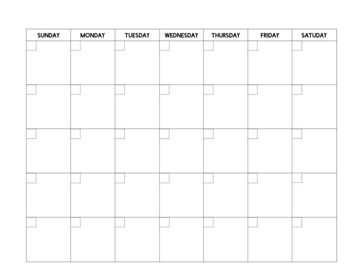 Free Printable Blank Calendar Template | Blank Calendar