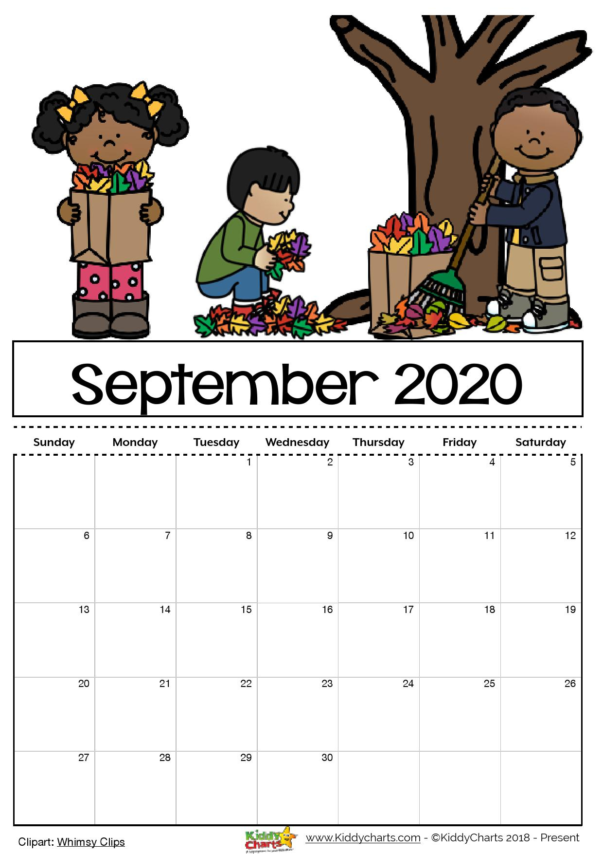 Free Printable Calendar 2020 Kids | Example Calendar Printable
