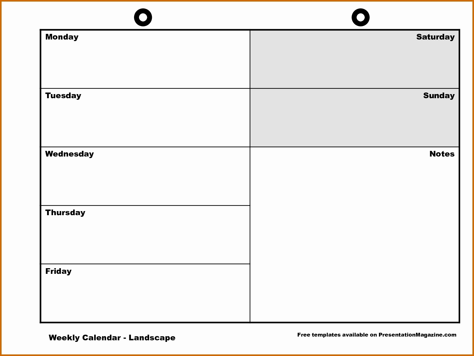 Free Printable Calendar Monday Through Friday   Ten Free