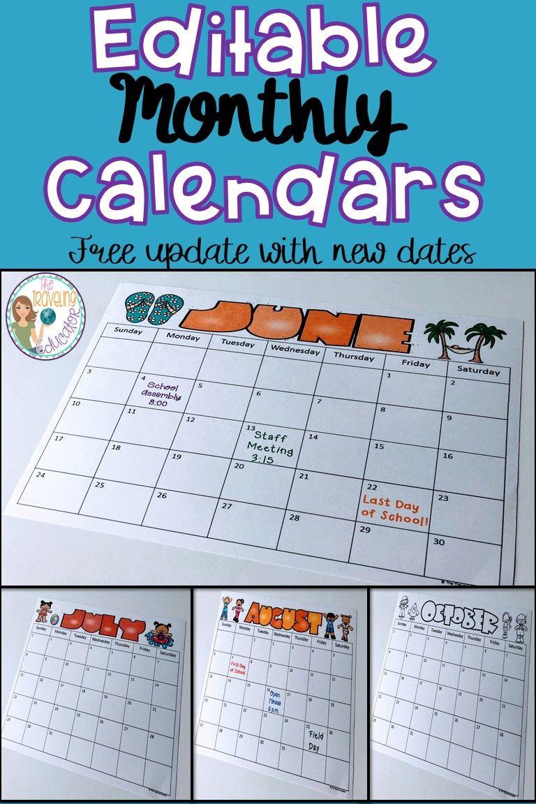 Free Printable Calendars For First Grade | Calendar