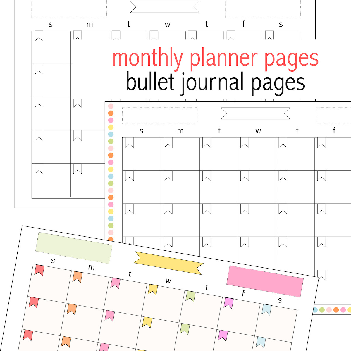 Free Printable Monthly Planner Page - Perpetual Calendar