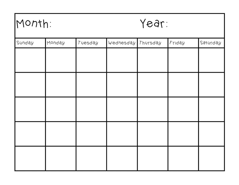Fresh Printable Blank Calendar Pages | Free Printable