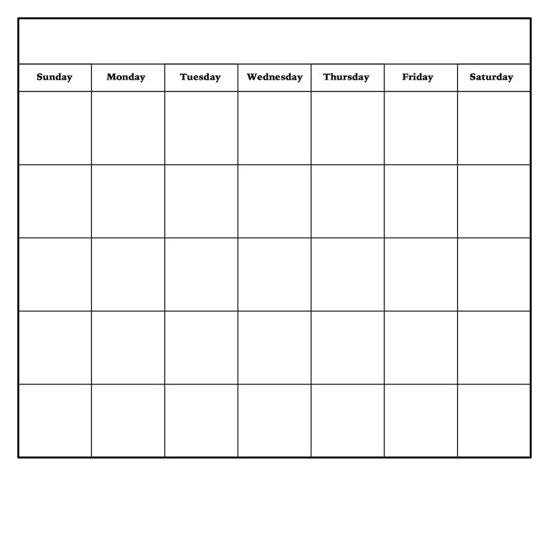 Full Page Blank Calendar Template New Diy Dry Erase