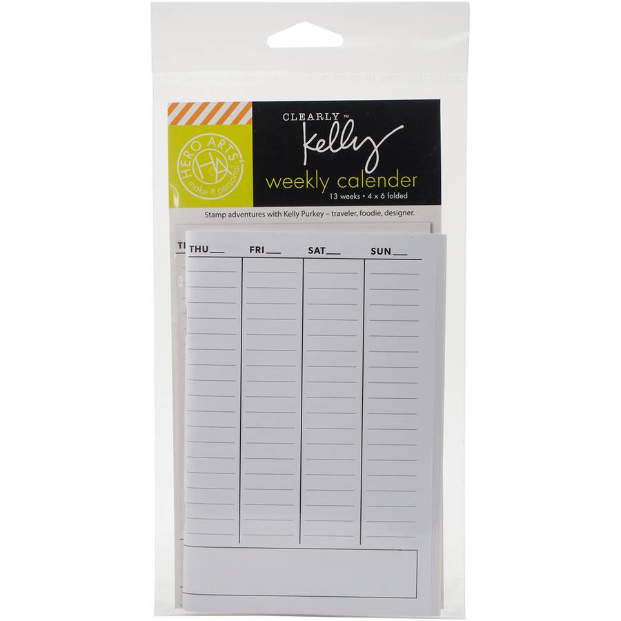Hero Arts Wallet Clearly Kelly Weekly Calendar - Walmart