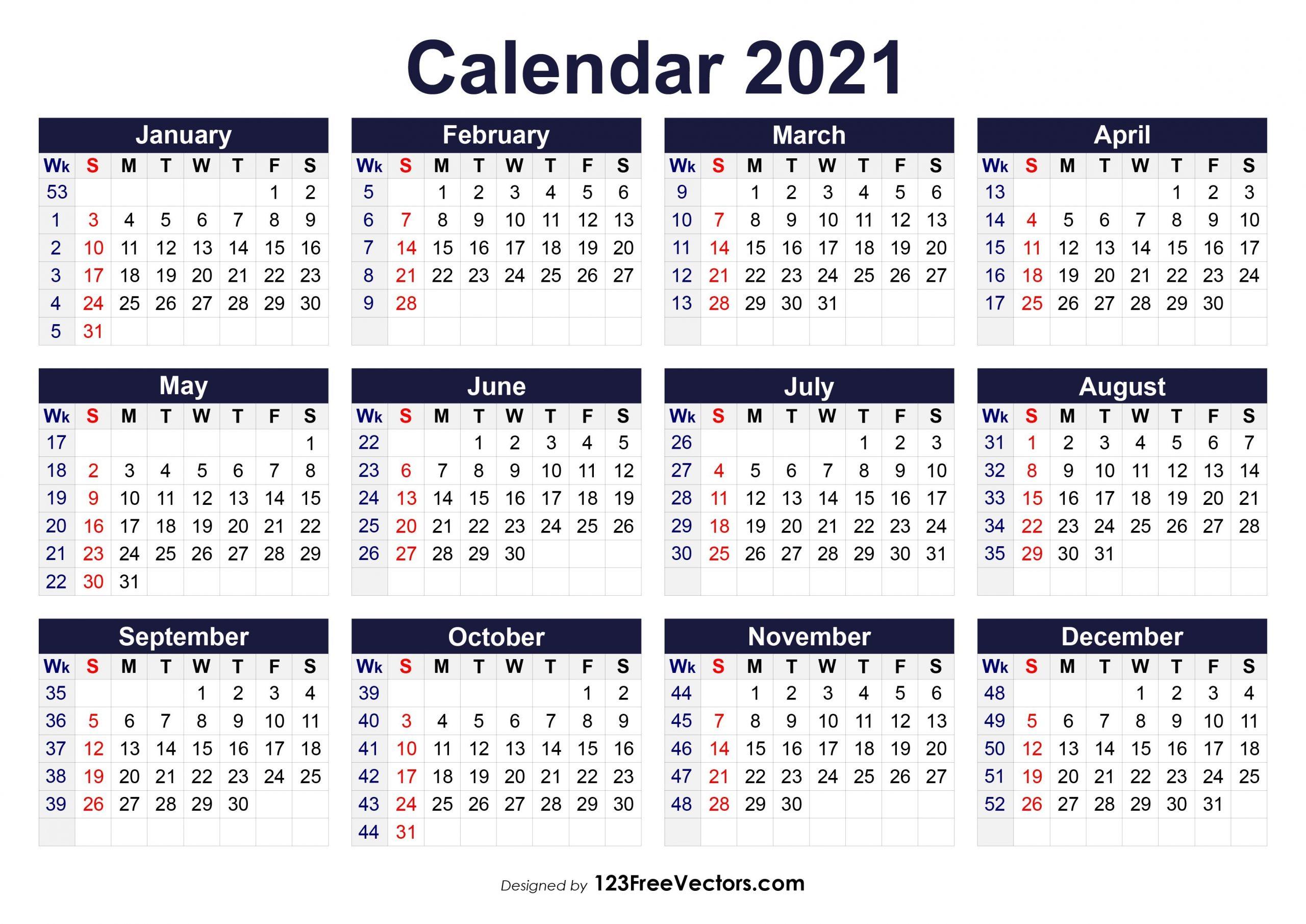 How To 6 Week Printable Calendar 2021   Get Your Calendar