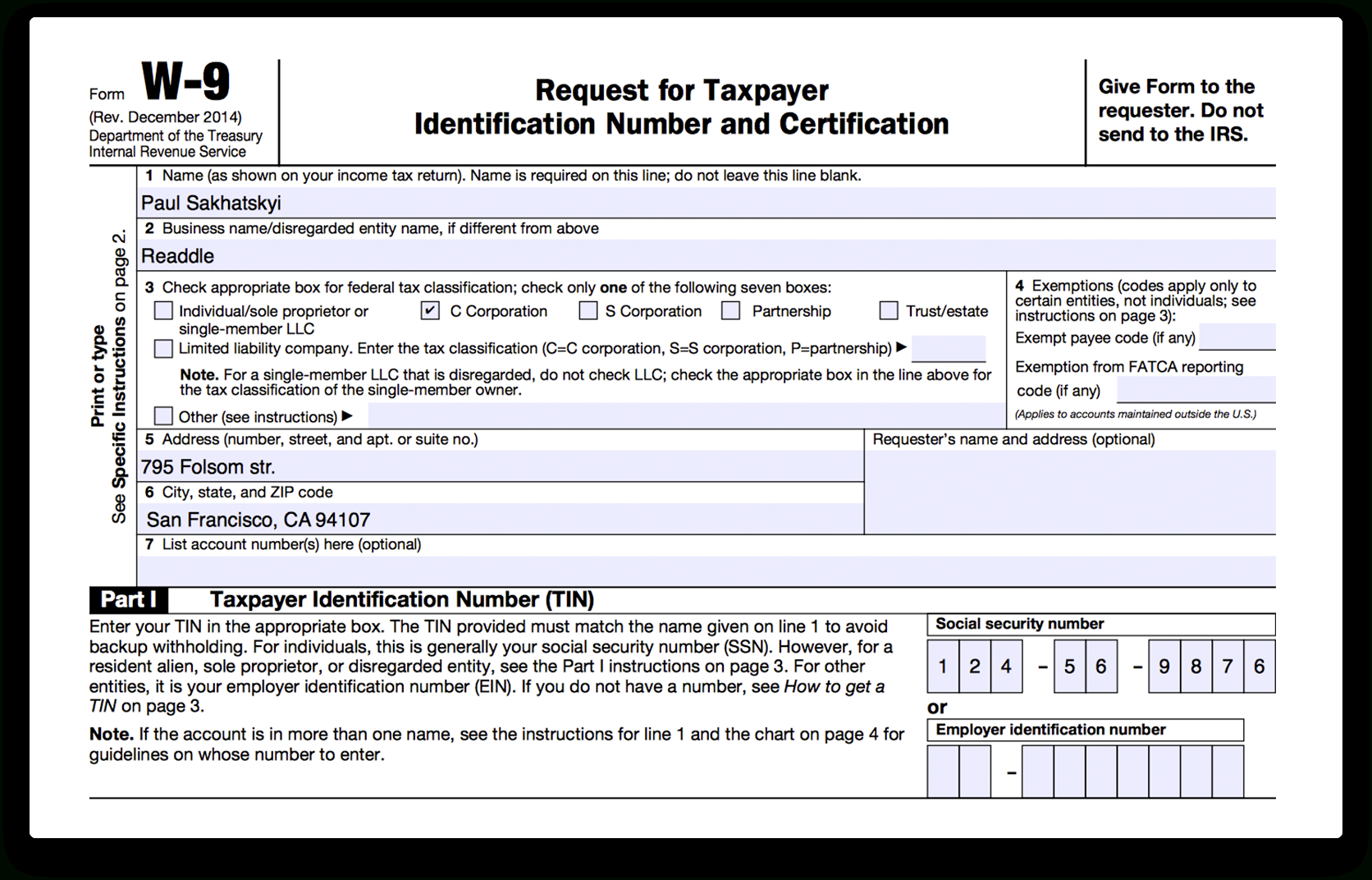 How To Fill Out Irs Form W-9 2017-2018   Pdf Expert