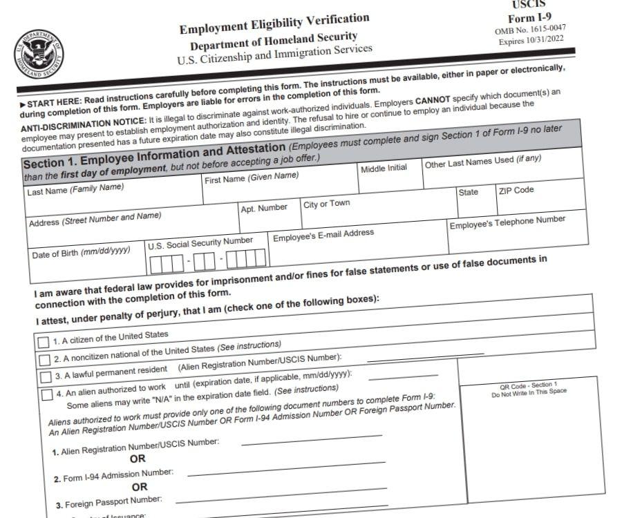 I9 Forms 2021 Printable