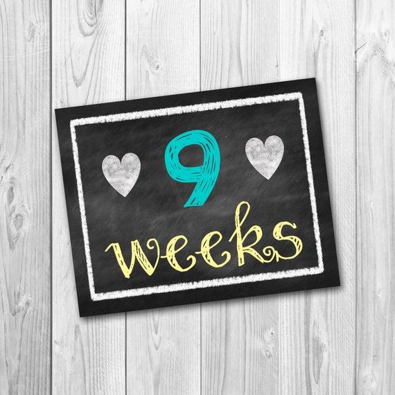 Items Similar To Pregnancy Calendar Countdown, Chalkboard