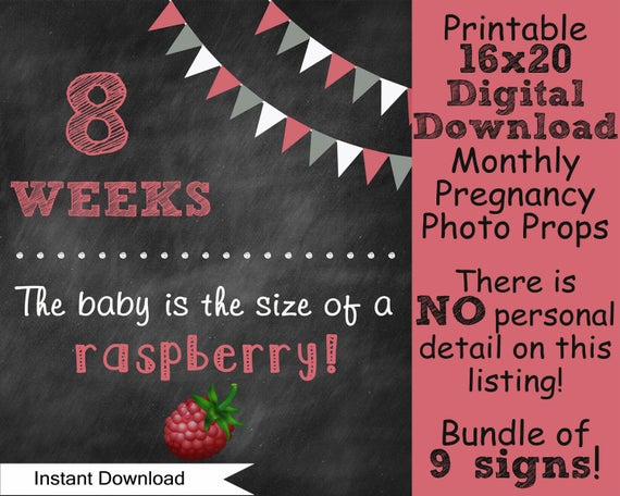 Items Similar To Printable Pregnancy Countdown Without