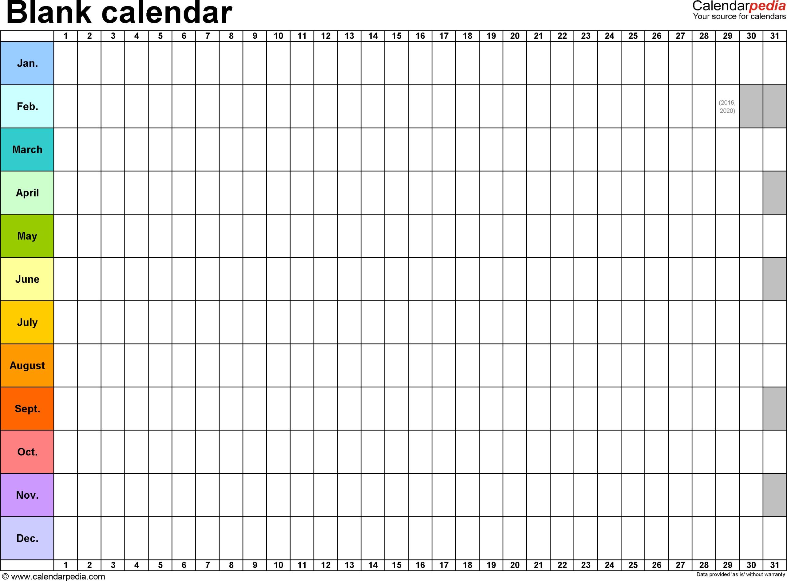 Lovely Printable Blank Yearly Calendar   Free Printable