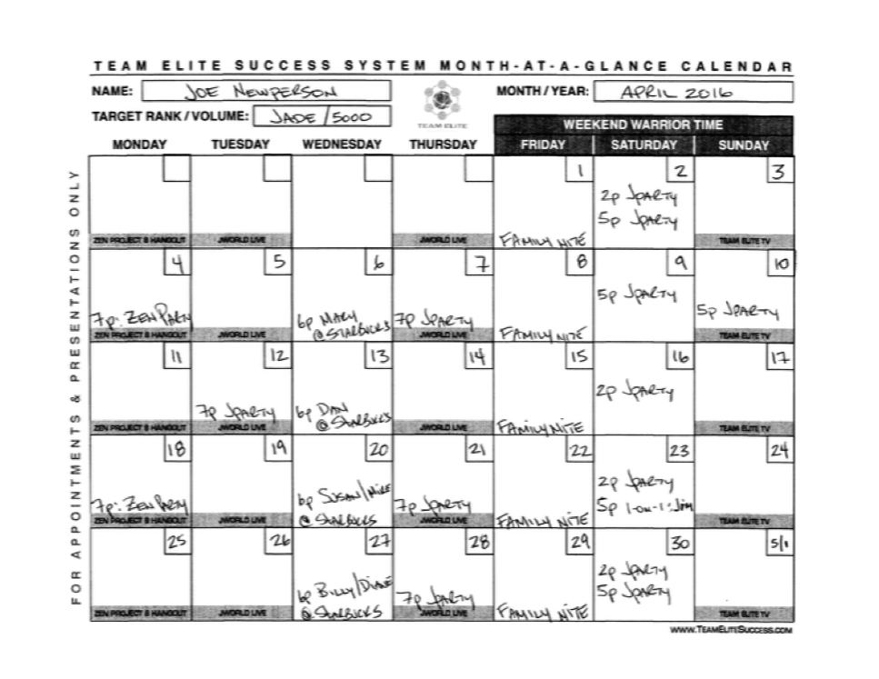 Month At A Glance Calendar - Calendar Template 2020