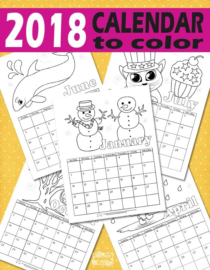 New Kids Printable Calendars | Free Printable Calendar Monthly